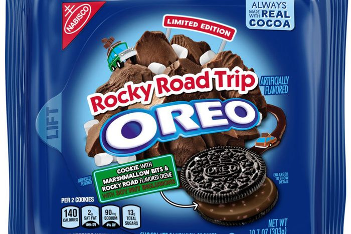 Packaging of rocky road Oreos