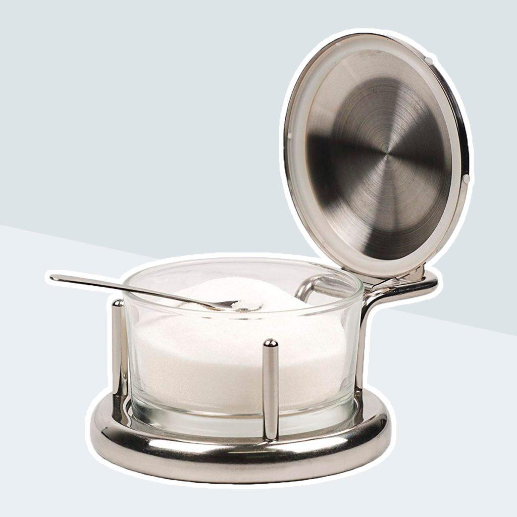 RSVP Endurance Salt Server with Spoon. salt canister