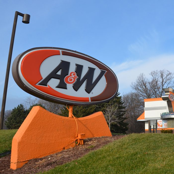 A&W, whose Fairlane Mall store logo is shown