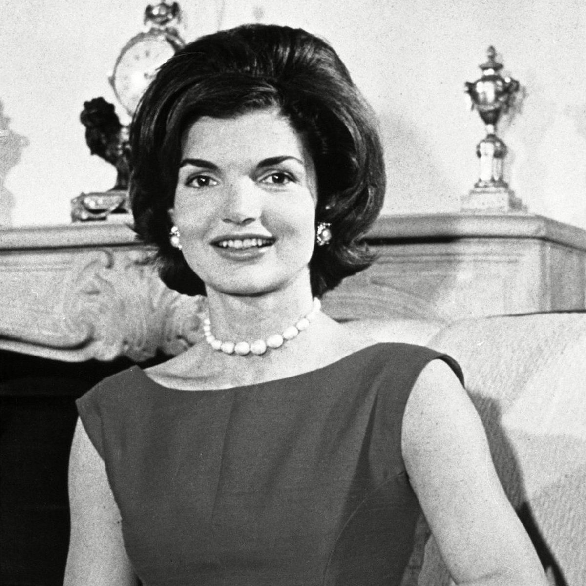 Jacqueline Kennedy is sits in the living room of her Washington, D.C., residence, . Her husband, Sen. John F. Kennedy (D-Mass.) is campaigning for the presidency Jackie Kennedy, Washington, USA