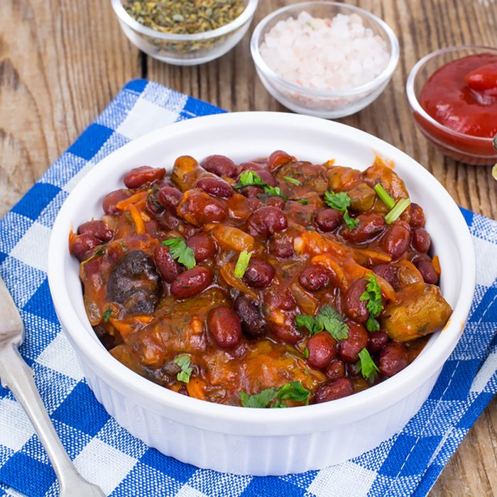 Vegetable stew with red beans.
