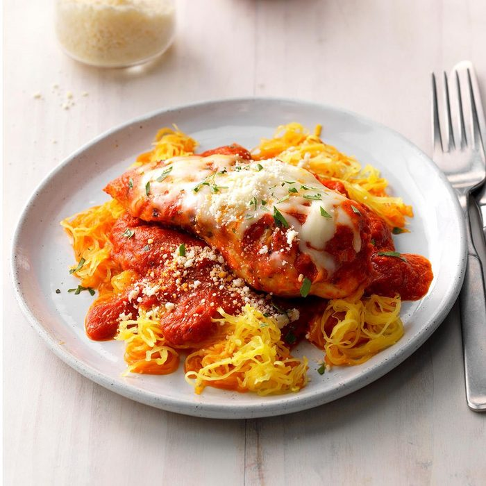 Day 7: Chicken Parmesan With Spaghetti Squash