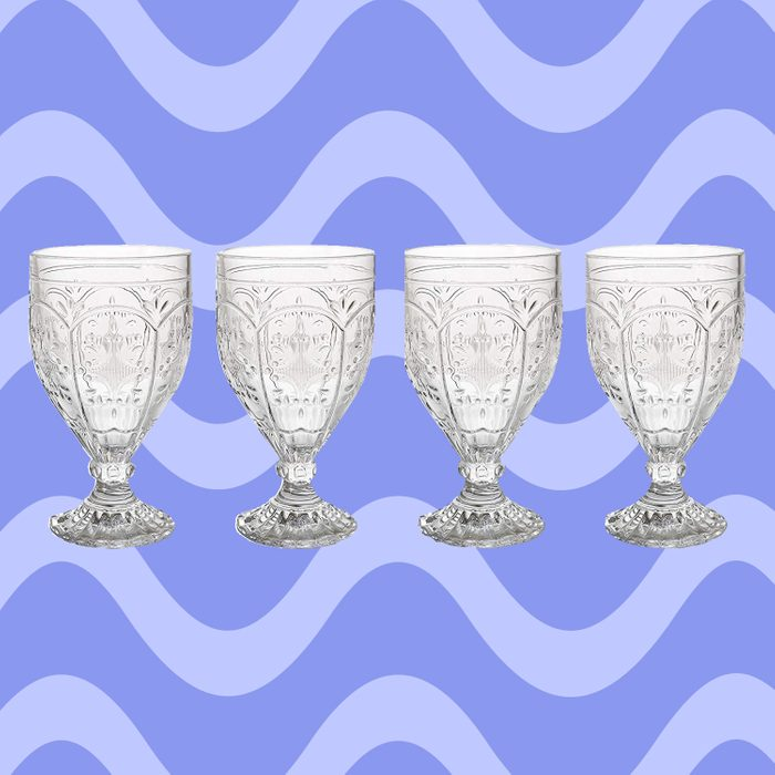 Trestle Glasses Collection, (Set of 4), Clear