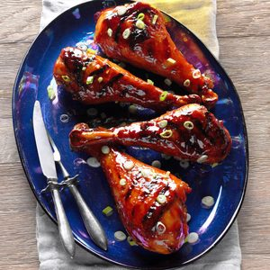Grilled Huli Huli Turkey Drumsticks