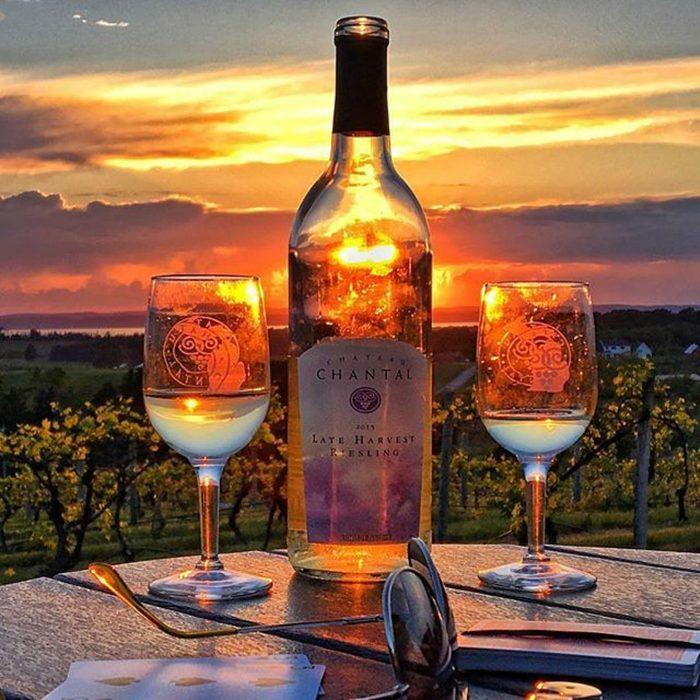 Chateau Chantal Winery and Inn at sunset