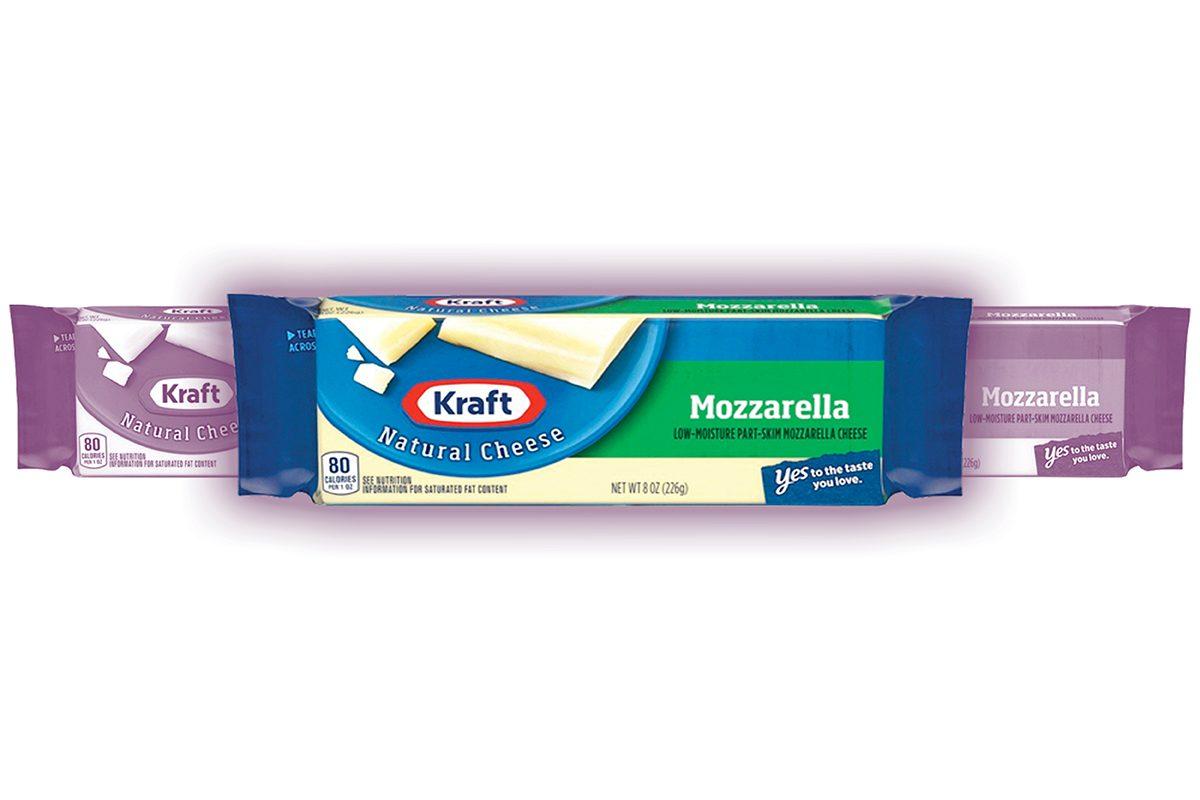 Kraft Mozzarella Low-Moisture Part-Skim Cheese, 8 oz Wrapper