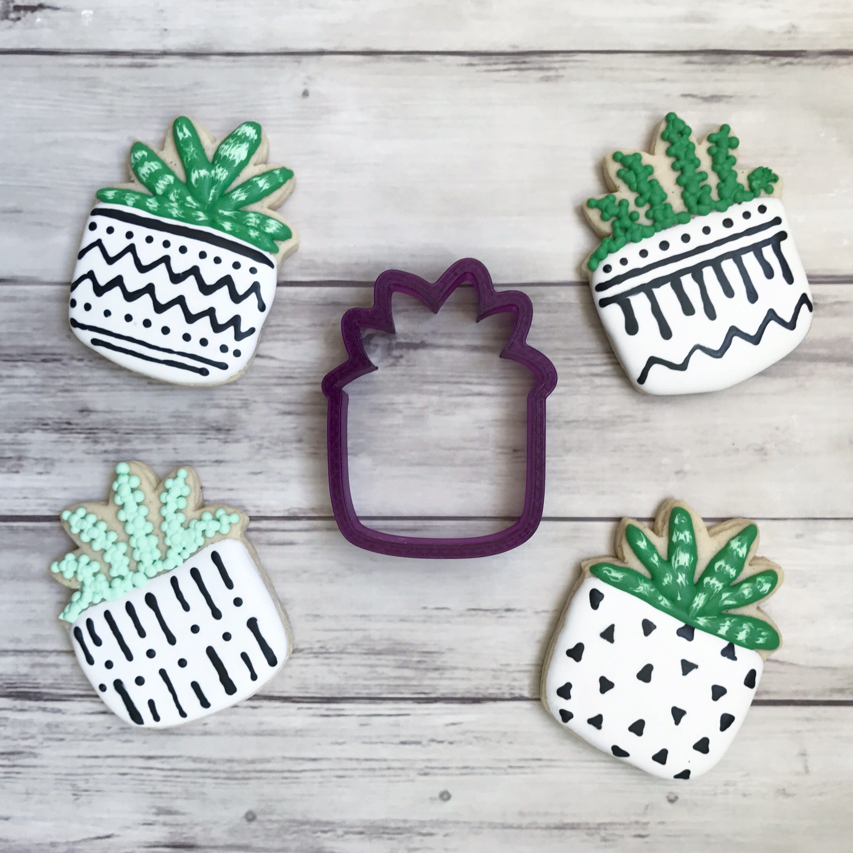 Potted Flower Potted Plant #1 Cookie Cutter and Fondant Cutter and Clay Cutter