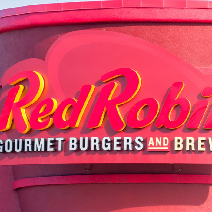 Red Robin restaurant exterior and logo.