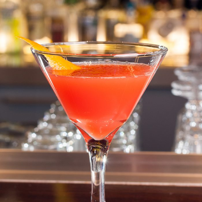 Red drink in cocktail glass; Shutterstock ID 178198907; job: Taste of Home