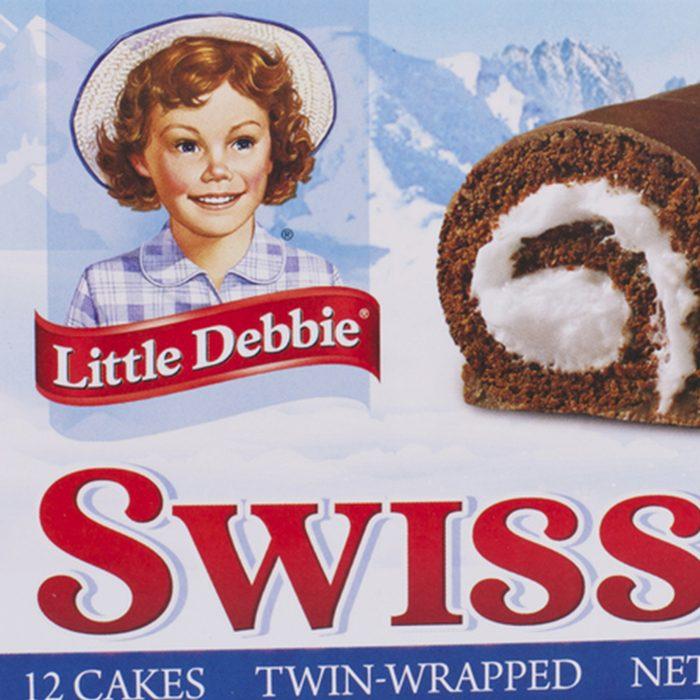 13 ounce box of Little Debbie brand Swiss Rolls.