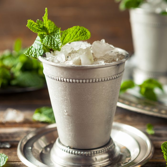 Cold Refreshing Classic Mint Julep with Mint and Bourbon; Shutterstock ID 413734351; job: Taste of Home