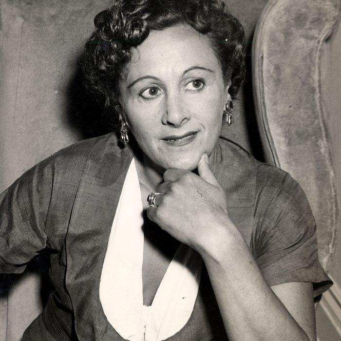 Fanny Cradock (1909-1994) Pictured In 1955 Fanny Cradock