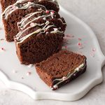 Candy Cane Chocolate Mini Loaves