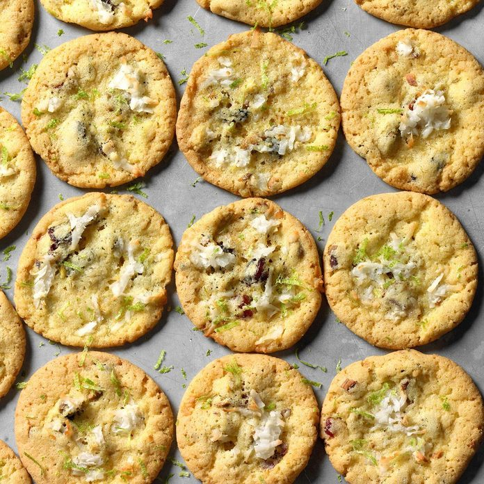 Coconut, Lime and Pistachio Cookies