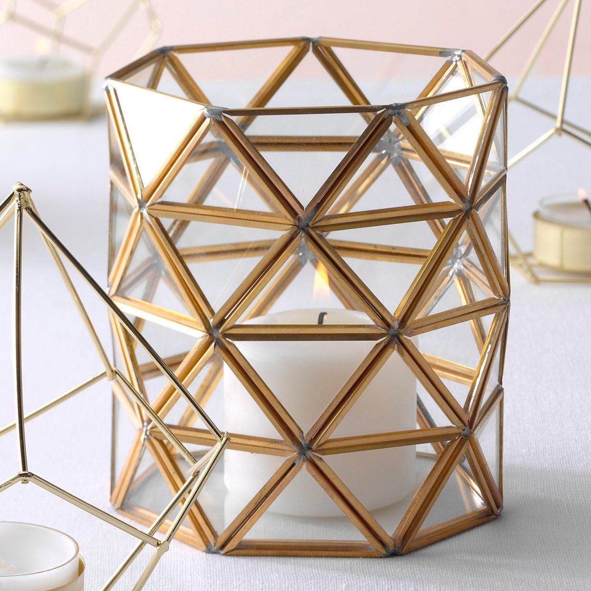 Simply Beautiful Wire Frame Candles