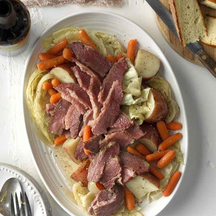 Pressure-Cooker Easy Corned Beef and Cabbage