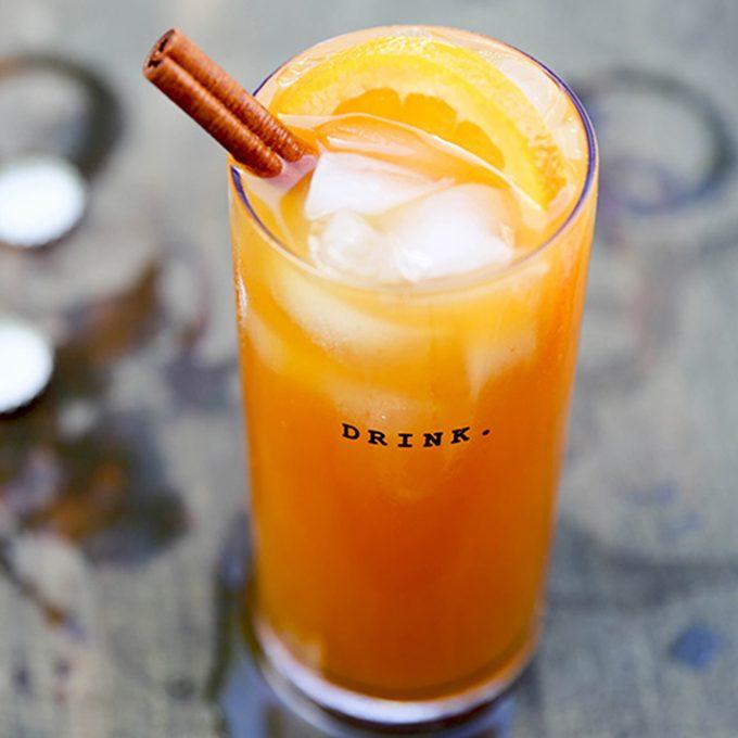 Pumpkin beer cocktail