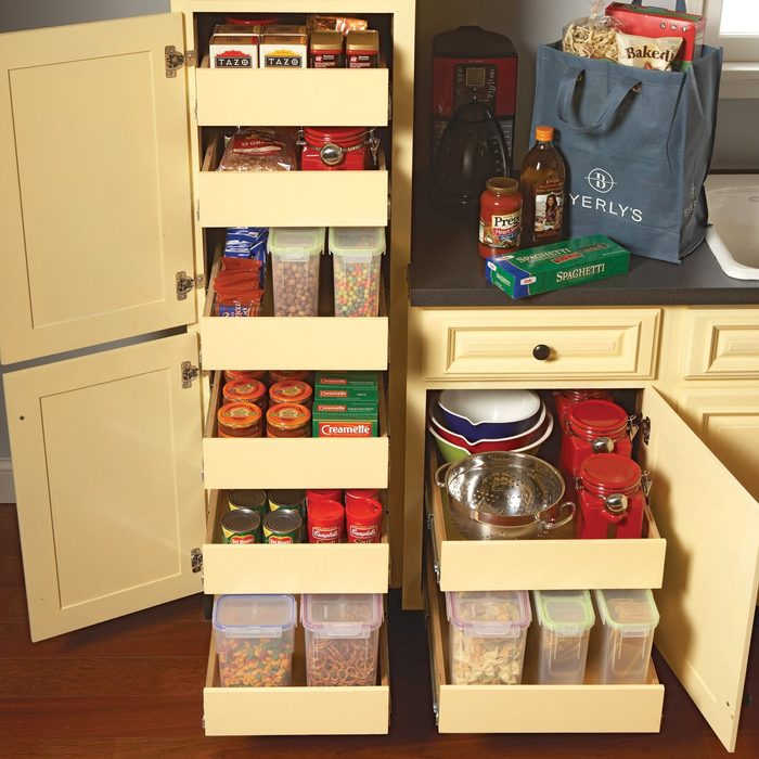 Roll-out cabinets