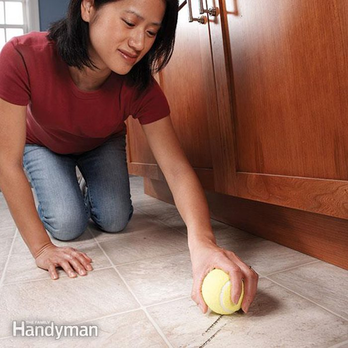 Cleaning with a tennis ball
