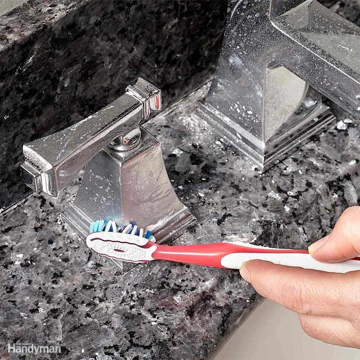 Cleaning with a toothbrush