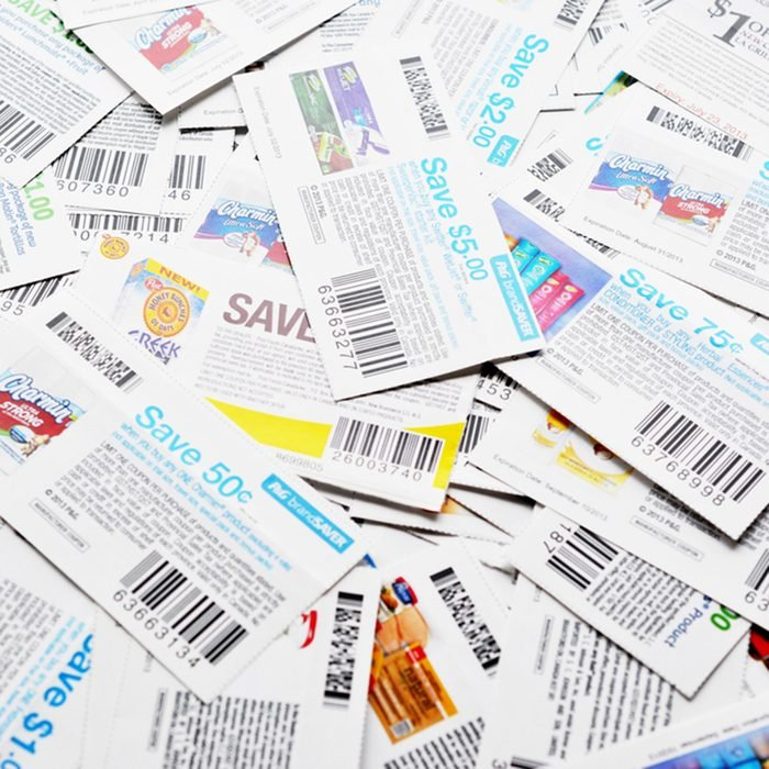 Coupons background. All coupons for Canadian store, they are issued by manufacturers of consumer packaged goods Canada.