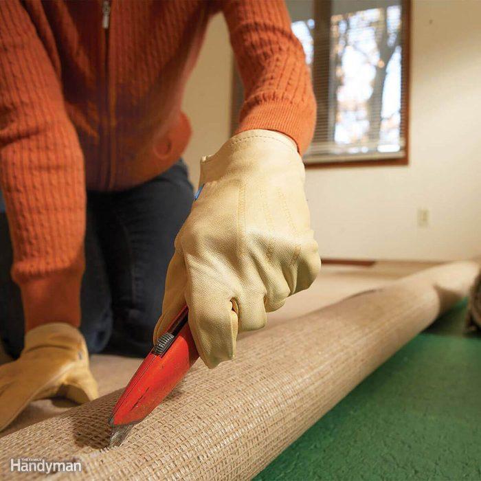 Cutting the carpet