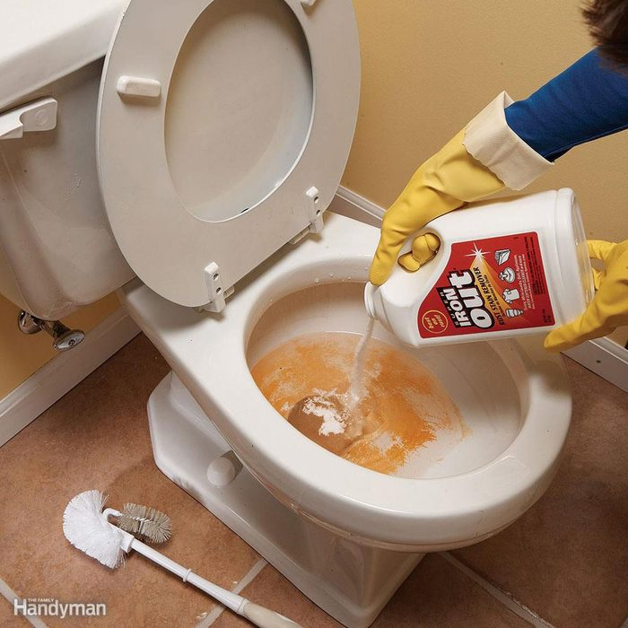 Iron Out in toilet