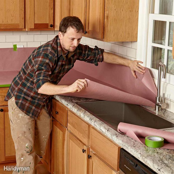 Protect Countertops With Rosin Paper