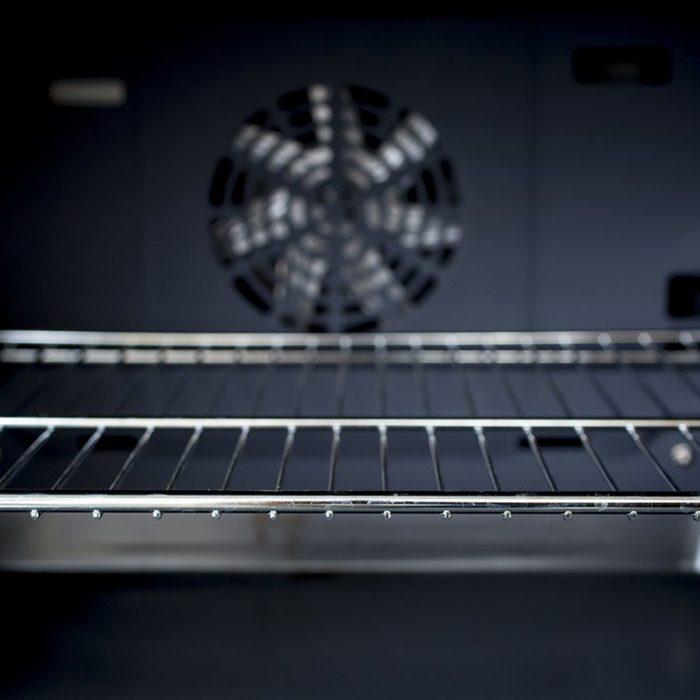 Rack in oven