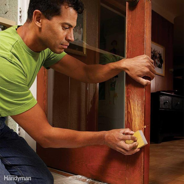 Removing scratches from door
