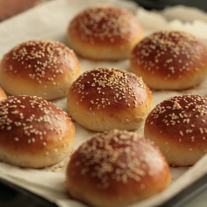 Buns coated in sesame seeds