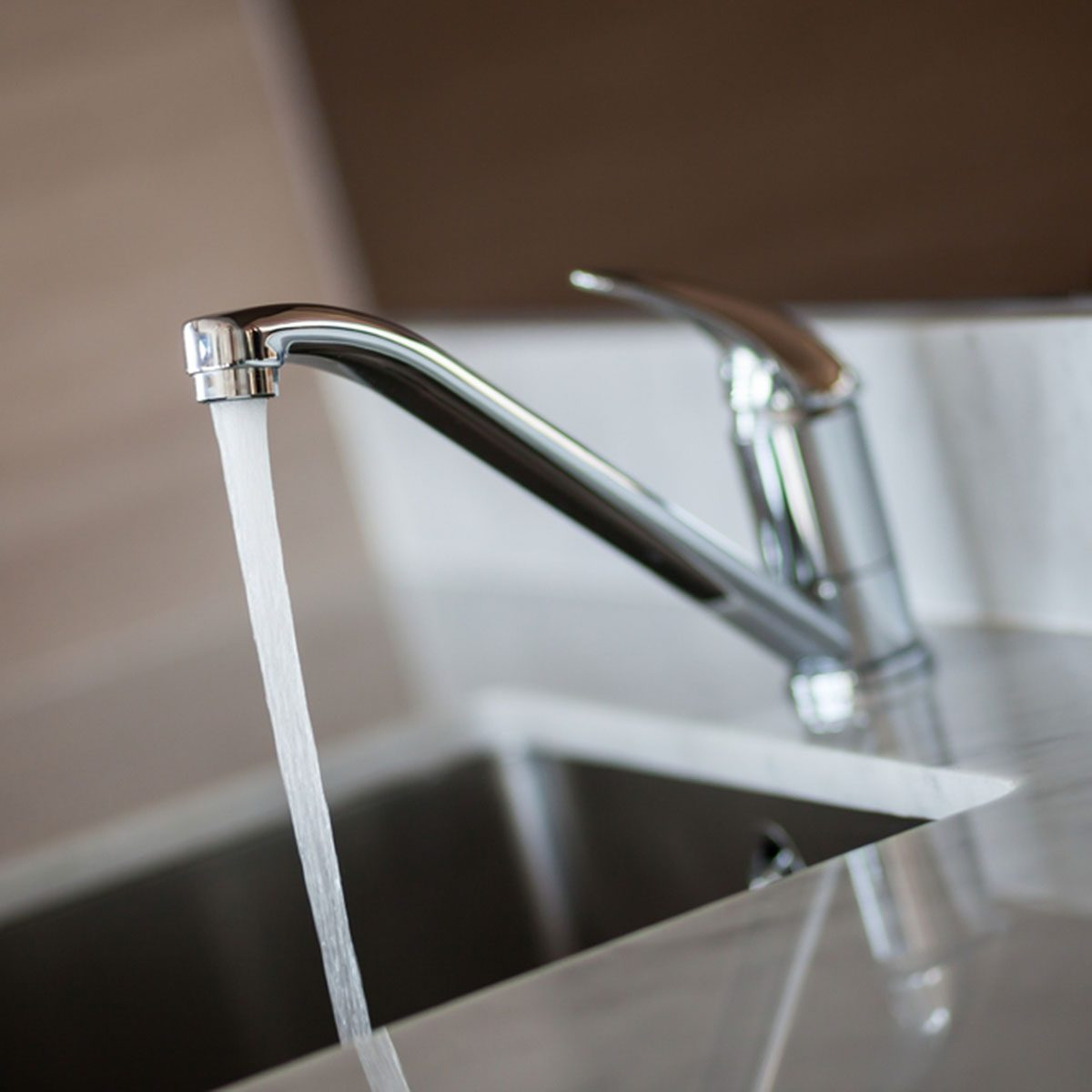 Open tap water from the faucet.; Shutterstock ID 171383222; Job (TFH, TOH, RD, BNB, CWM, CM): Taste of Home