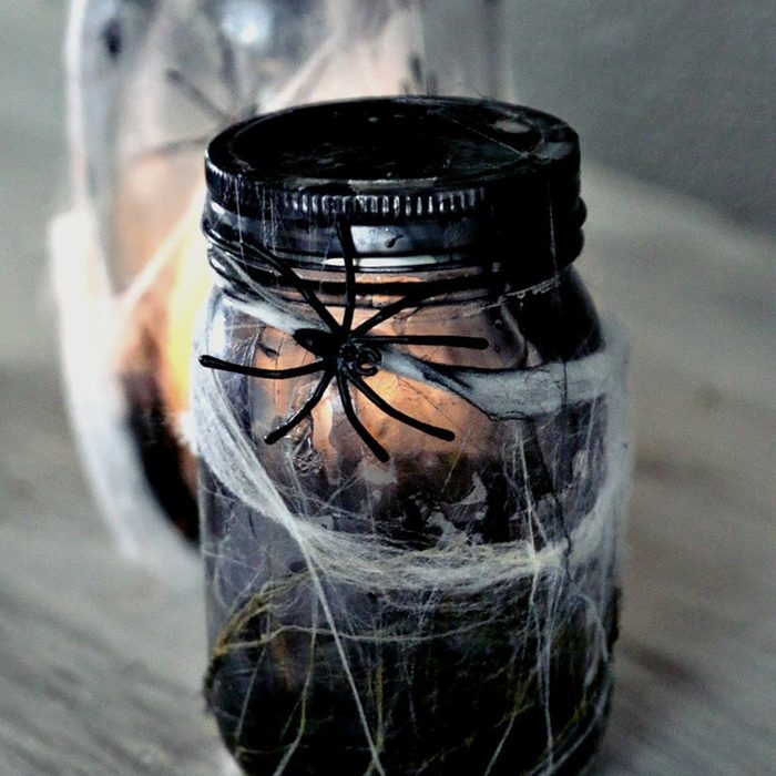 Spooky mason jar