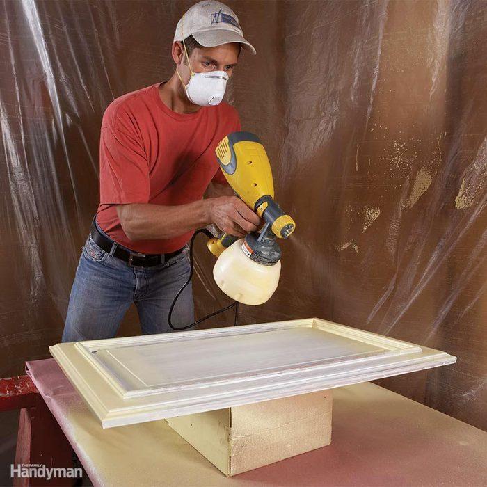 Spray painting doors