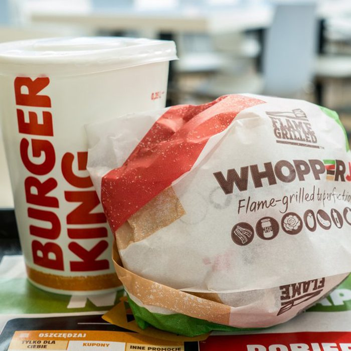 Whopper and soda