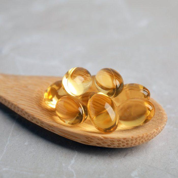 Wooden spoon of supplements