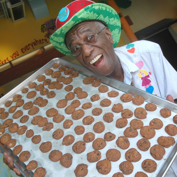Wally Amos, of Kailua, Hawaii, in his home office