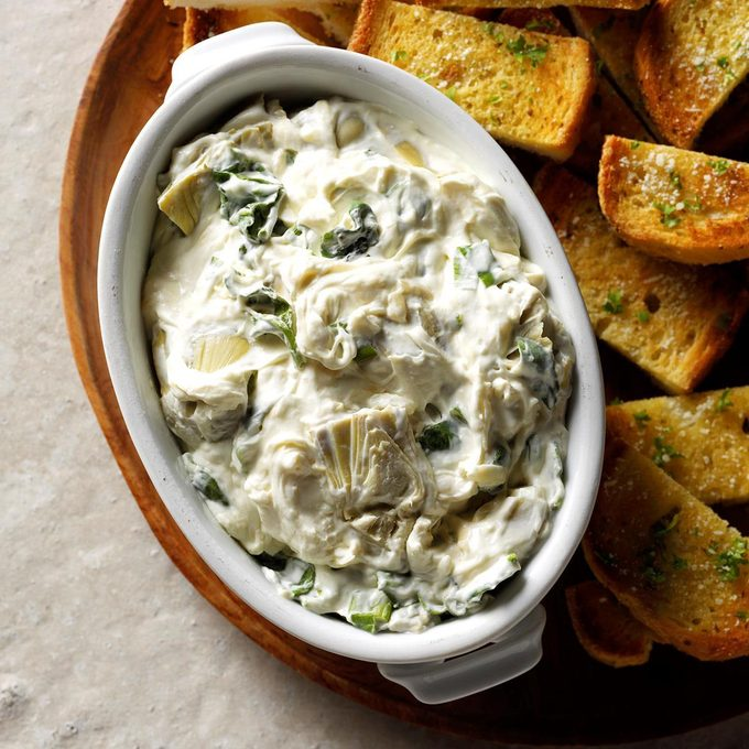 Artichoke Spread With Garlic Bread Exps Sddj19 186645 B07 20 4b 2