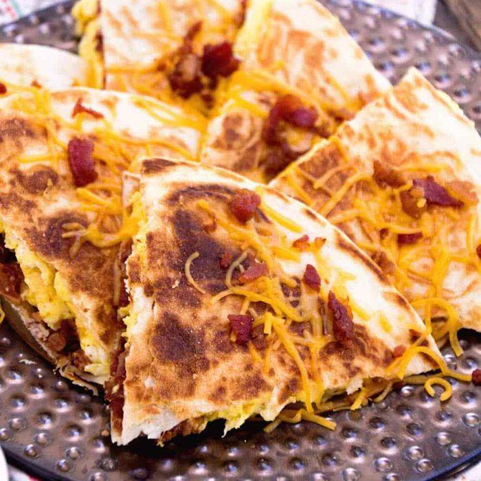 Bacon egg cheese quesadillas