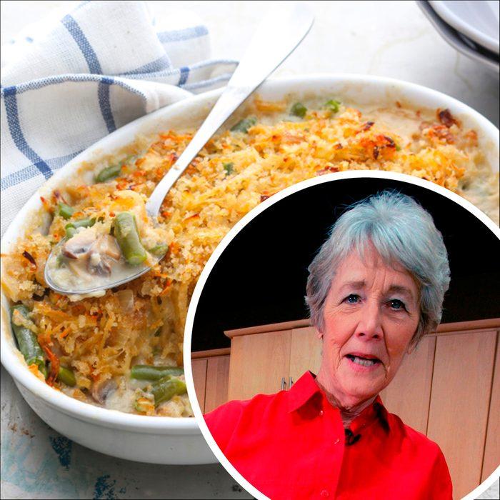 Dorcas Reilly green bean casserole feature square