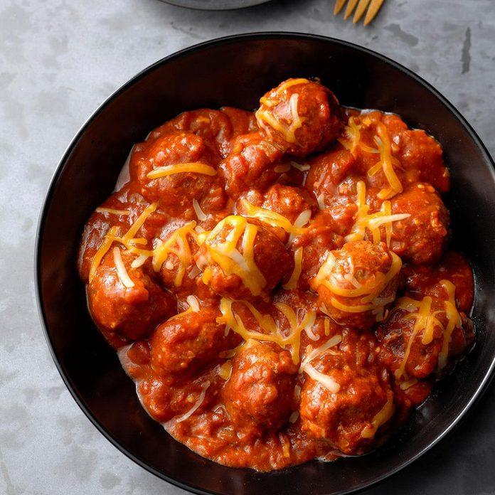 Potluck Enchilada Meatballs