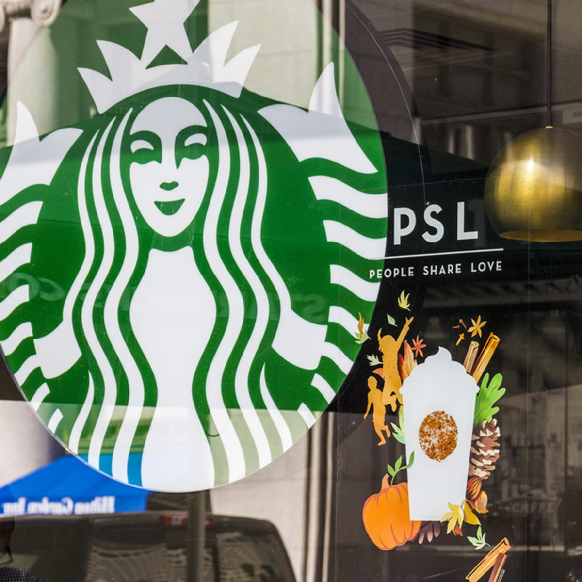 Indianapolis - Circa September 2016: Starbucks Retail Coffee Store. Starbucks is Serving Pumpkin Spice Lattes VI; Shutterstock ID 482264938