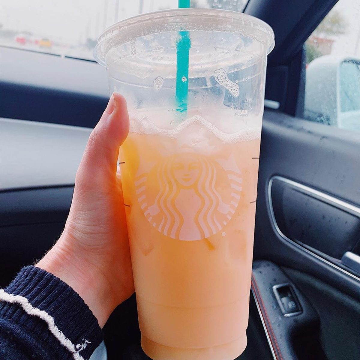 Peach ring drink