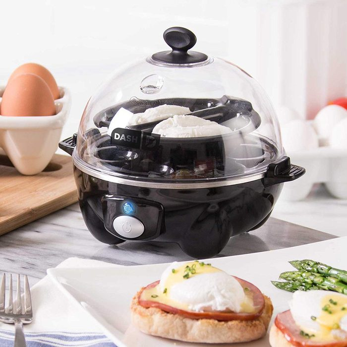 Dash Rapid Egg Cooker: 6 Egg Capacity Electric Egg Cooker for Hard Boiled Eggs, Poached Eggs, Scrambled Eggs, or Omelets with Auto Shut Off Feature - Black