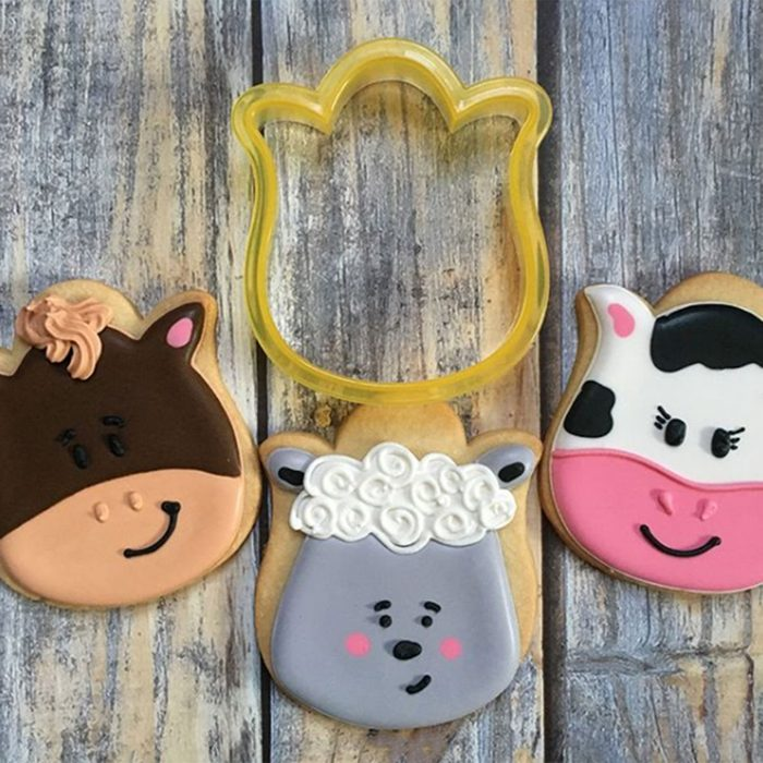 Farm animal cookies from tulip cookie cutter