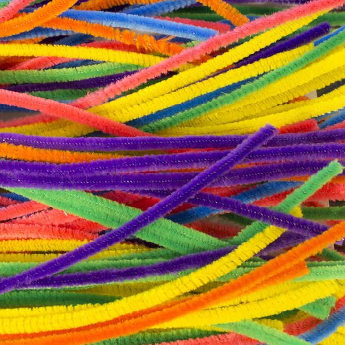 Neon colored pipe cleaners