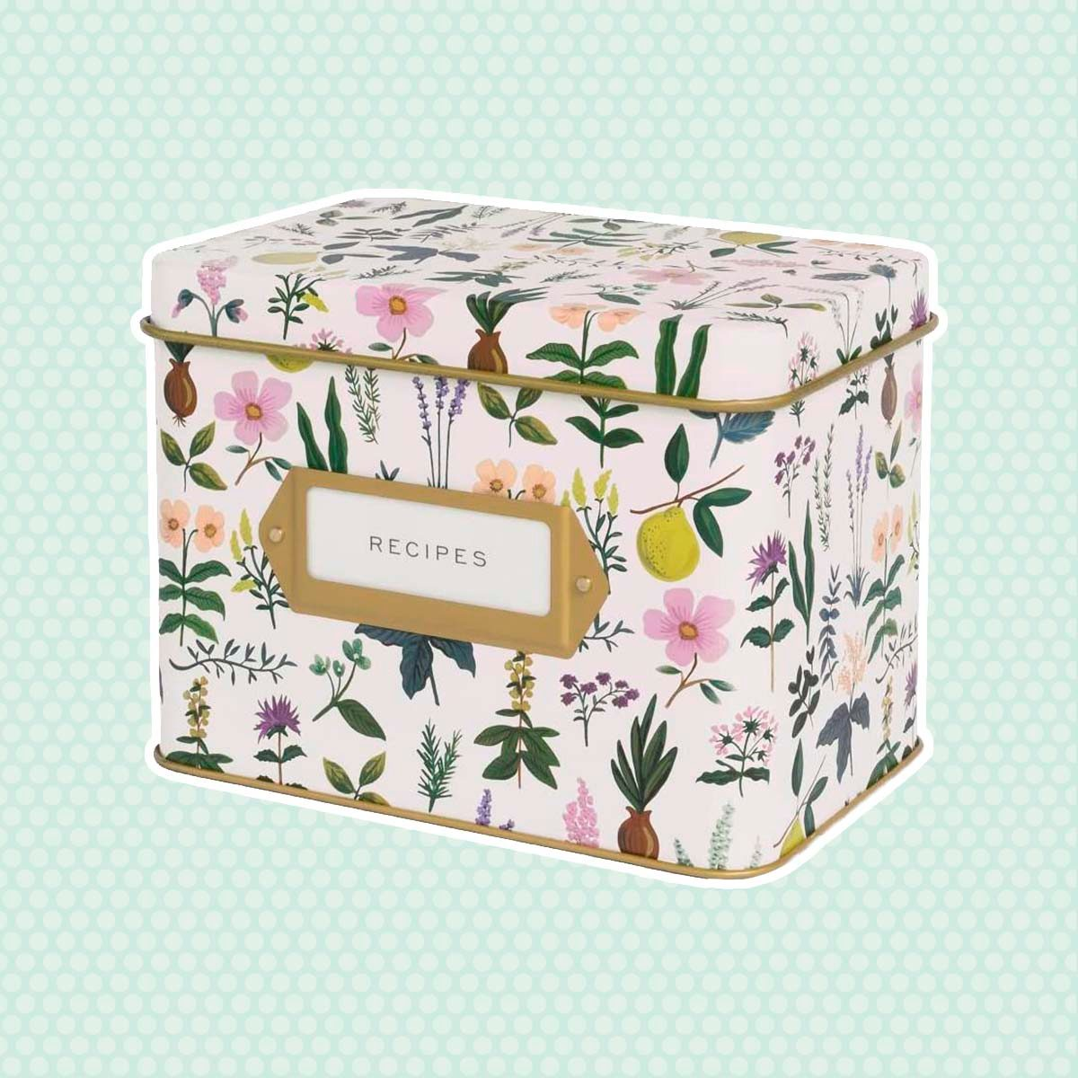 Rifle Paper Co. Recipe Box (Herb Garden)