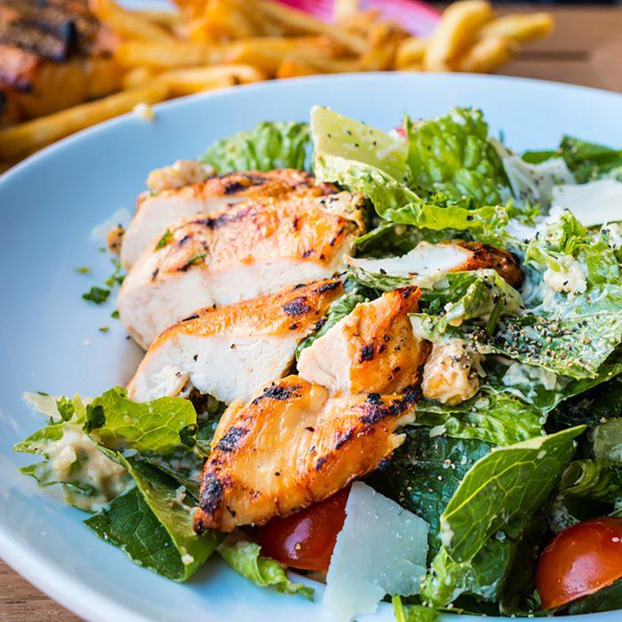 Chicken Salad. Chicken Caesar Salad.