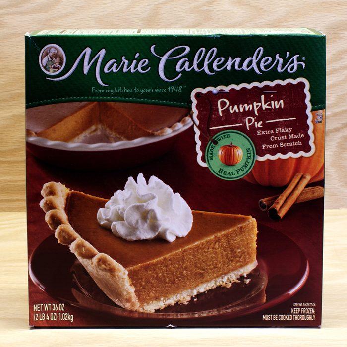 A Marie Callender's frozen pumpkin pie.