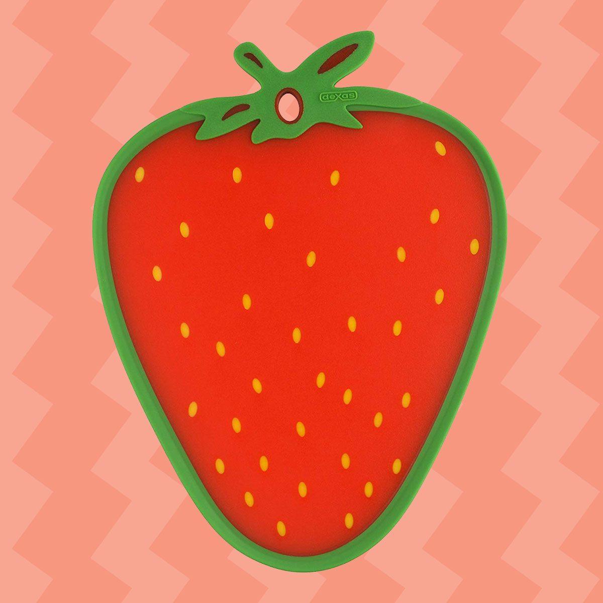 Dexas Cutting/Serving Board, Strawberry Shape